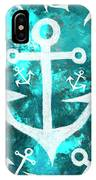 Maritime Anchor Art IPhone Case