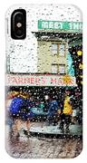 Market In Rain J005 IPhone Case