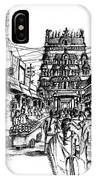 Market Place - Urban Life Outside Temple India IPhone Case