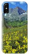 210403-v-maroon Bells And Sunflowers  IPhone Case