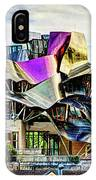marques de riscal Hotel at sunset - frank gehry - vintage version IPhone Case
