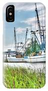 Marsh View Shrimp Boats IPhone Case