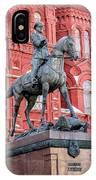 Marshal Georgy Konstantinovich Zhukov Statue IPhone Case