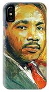 Martin Luther King Portrait 2 IPhone Case