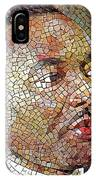 Martin Luther King Portrait Mosaic 1 IPhone Case