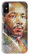 Martin Luther King Portrait Mosaic 2 IPhone Case