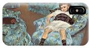 Mary Cassatt-little Girl In A Blue Armchair1878 Po Amp 059 Mary Cassatt IPhone Case