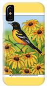 Maryland State Bird Oriole And Daisy Flower IPhone Case