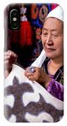 Master Of Kyrgyz National Carpet - Shyrdak  IPhone Case