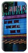 Maumee Movie Theater I IPhone Case