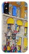 Mcdonald Restaurant Old Montreal IPhone Case