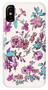 Meadow Flower And Leaf Wreath Isolated On Pink, Circle Doodle Fl IPhone Case