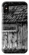 Meadow Shelter - Bw IPhone Case