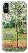 Meadow With Grey Horse, Eragny IPhone Case