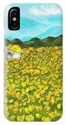Meadow With Yellow Dandelions, Oil Painting IPhone Case