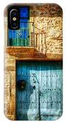 Medieval Spanish Gate And Balcony - Vintage Version IPhone Case