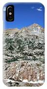 Medley Lake Basin Panorama From High Above - Sierra IPhone Case