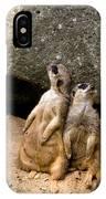 Meerkats Keeping An Eye Out Part 2 IPhone X Case