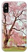 Meet Me Under The Pink Blooms Beside The Pond - Holmdel Park IPhone Case