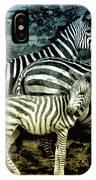 Meet The Zebras IPhone Case