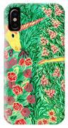 Meeting In The Rose Garden IPhone Case