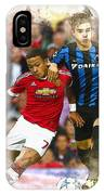 Memphis Depay Of Manchester United In Action IPhone Case