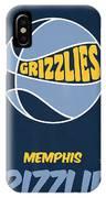 Memphis Grizzlies Vintage Basketball Art IPhone Case