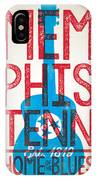 Memphis Poster - Tennessee IPhone X Case