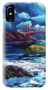 Mermaid At The Golden Gate Bridge  IPhone Case