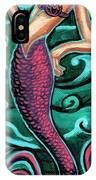 Mermaid With Pearl IPhone Case