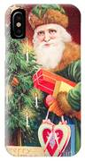 Merry Christmas Santa Delivers Gifts Vintage Card IPhone Case