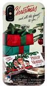 Merry Christmas Vintage Cigarette Advert IPhone Case