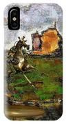 Metal  Horse Statue IPhone Case