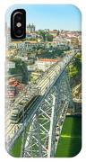 Metro Train Over Porto Bridge IPhone Case