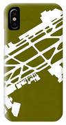 Mex Benito Juarez International Airport Silhouette In Olive IPhone Case
