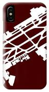 Mex Benito Juarez International Airport Silhouette In Red IPhone Case