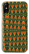 Mexican Poppy Field Abstract IPhone Case