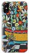 Mexican Vase With Spring Flowers IPhone Case