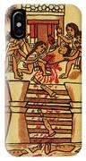 Mexico: Aztec Sacrifice IPhone Case