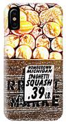 Michigan Squash For Sale IPhone Case
