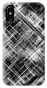 Micro Linear Black And White IPhone Case