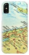 Middle East Map. IPhone Case