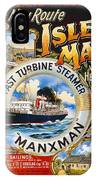 Midland Railway, Steam Boat, Isle Of Man, Poster IPhone Case