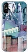 Midnight Colliery Original Watercolour Painting IPhone Case