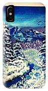 Midnight Winter Mountain IPhone Case