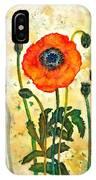 Midsummer Poppy IPhone Case