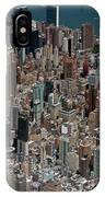 Midtown East Manhattan Skyline Aerial   IPhone Case