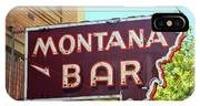 Miles City, Montana - Bar Neon IPhone Case