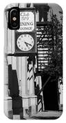 Miles City, Montana - Downtown Clock Bw IPhone Case