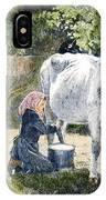Milking, 19th Century IPhone Case